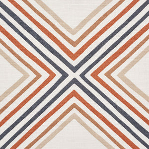 SCHUMACHER SQUARE DANCE FABRIC / BROWN