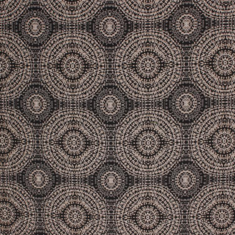 Tommy Bahama Batik Medallion Outdoor Sunbrella Upholstery Fabric / Charcoal