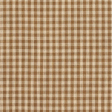 Load image into Gallery viewer, Essentials Beige Brown Checkered Upholstery Drapery Fabric / Wheat Gingham