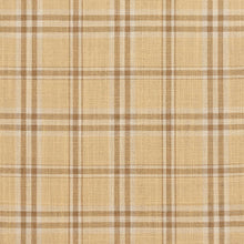 Load image into Gallery viewer, Essentials Beige Brown Cream Checkered Plaid Upholstery Drapery Fabric / Wheat Tartan