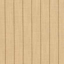 Load image into Gallery viewer, Essentials Beige Brown Stripe Upholstery Drapery Fabric / Wheat Pinstripe