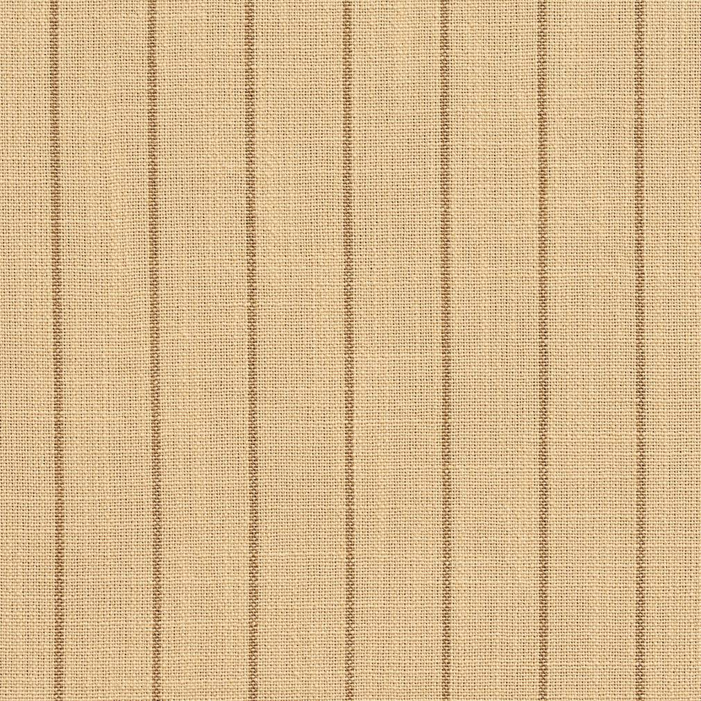 Essentials Beige Brown Stripe Upholstery Drapery Fabric / Wheat Pinstripe