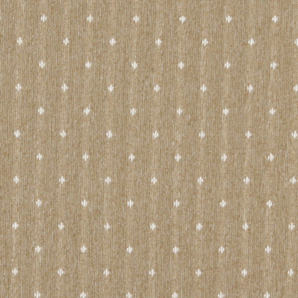 Essentials Beige Cream Upholstery Fabric / Wheat Dot