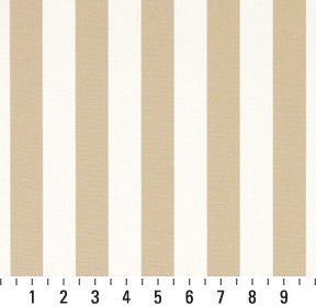 Essentials Outdoor Beige Sand Canopy Stripe Upholstery Fabric