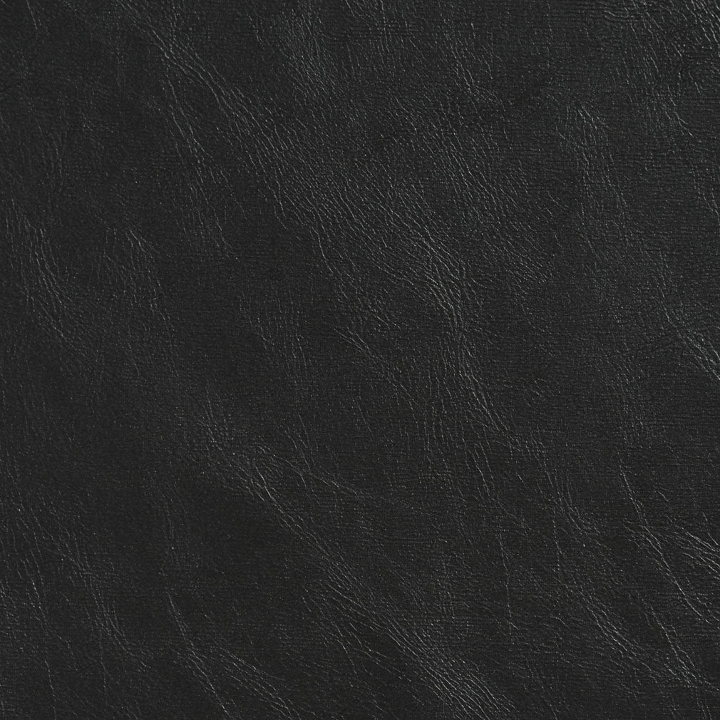 Essentials Breathables Heavy Duty Faux Leather Upholstery Vinyl / Black