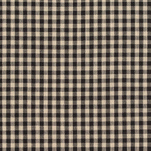 Load image into Gallery viewer, Essentials Black Beige Checkered Upholstery Drapery Fabric / Onyx Gingham