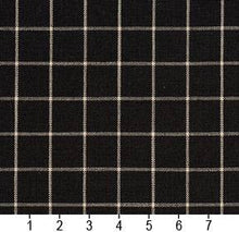Load image into Gallery viewer, Essentials Black White Plaid Upholstery Drapery Fabric / Onyx Checkerboard