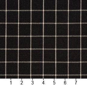 Essentials Black White Plaid Upholstery Drapery Fabric / Onyx Checkerboard