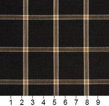 Load image into Gallery viewer, Essentials Black Brown Beige Checkered Plaid Upholstery Drapery Fabric / Onyx Windowpane