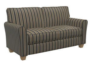 Essentials Black Brown Gray Upholstery Drapery Fabric / Onyx Stripe