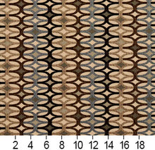 Load image into Gallery viewer, Essentials Black Brown Tan Gray Beige Cream Geometric Upholstery Fabric / Nutmeg Interlock