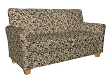 Load image into Gallery viewer, Essentials Black Brown Tan Gray Beige Cream Paisley Upholstery Fabric / Nutmeg Flutte