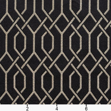 Load image into Gallery viewer, Essentials Heavy Duty Upholstery Drapery Fabric Black / Ebony Lattice