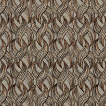 Load image into Gallery viewer, Essentials Black Gold Cream Gray Chain Upholstery Fabric / Curry