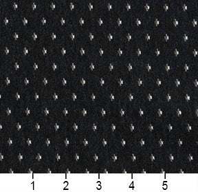 Essentials Black Gray Brown White Upholstery Fabric / Onyx Dot