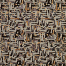 Load image into Gallery viewer, Essentials Black Gray Mauve Beige Upholstery Fabric / Curry Abstract