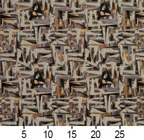 Essentials Black Gray Mauve Beige Upholstery Fabric / Curry Abstract
