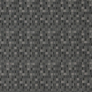 Essentials Black Gray Silver Mosaic Upholstery Fabric / Pepper