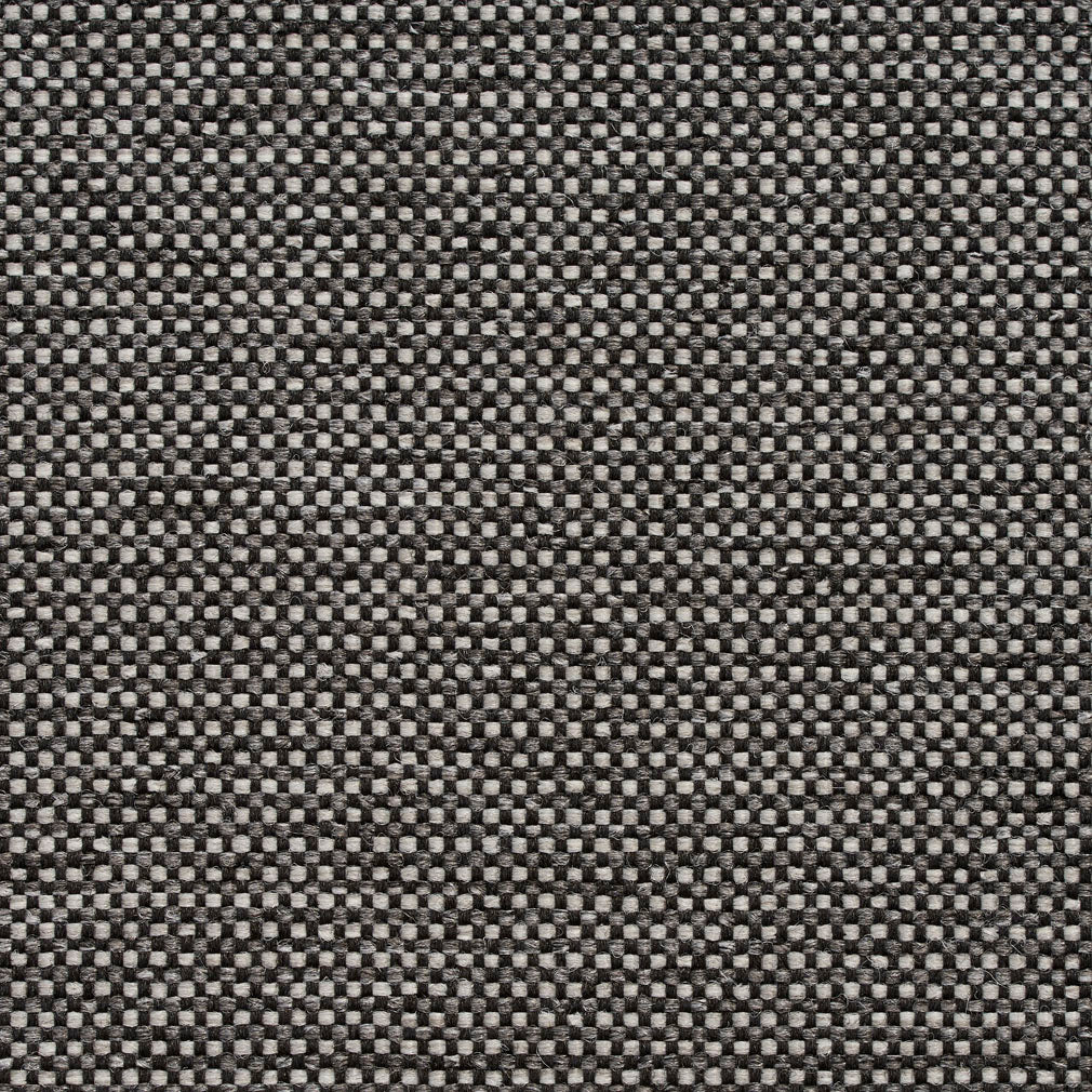 Essentials Heavy Duty Mid Century Modern Scotchgard Black Gray Upholstery Fabric / Stone