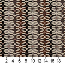Load image into Gallery viewer, Essentials Black Mauve Brown Gray Ivory Geometric Upholstery Fabric / Bronze Interlock