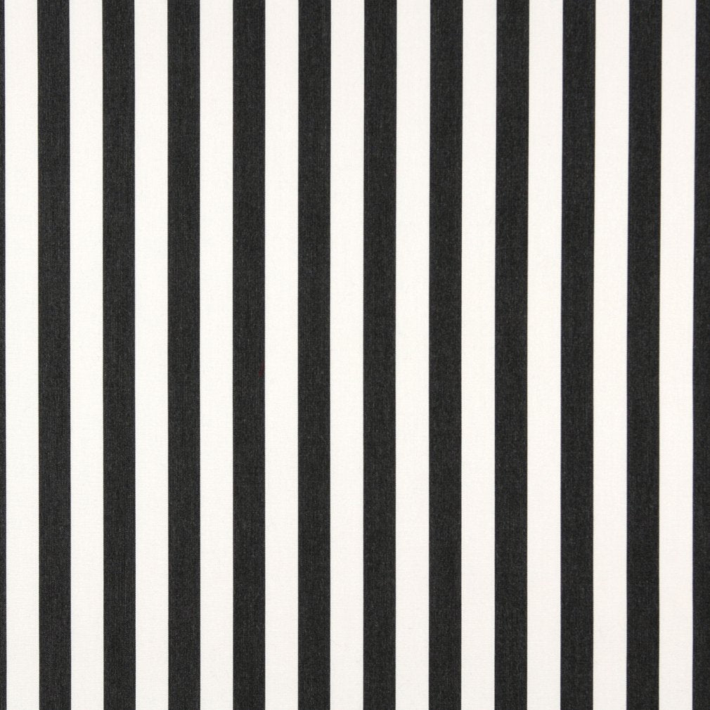 Essentials Outdoor Black White Midnight Canopy Stripe Upholstery Fabric