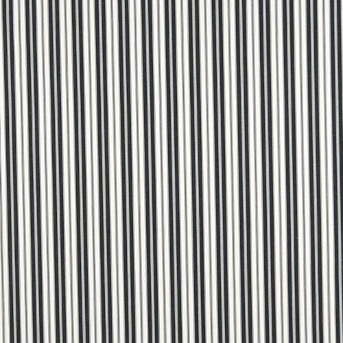 Essentials Outdoor Black Midnight Classic Stripe Upholstery Fabric