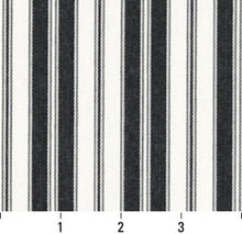 Load image into Gallery viewer, Essentials Outdoor Black White Midnight Classic Stripe Upholstery Fabric