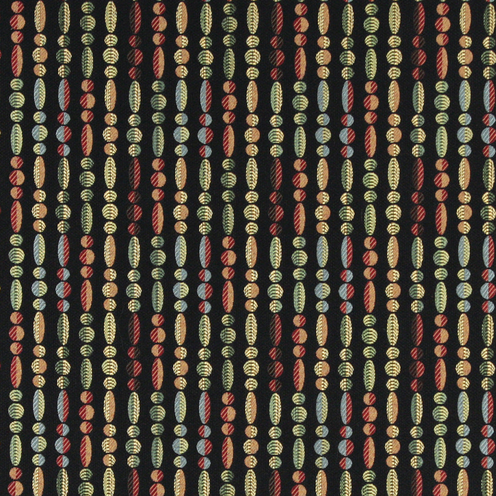 Essentials Cityscapes Black Red Green Blue Yellow Geometric Upholstery Drapery Fabric