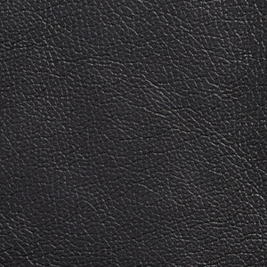 Essentials Breathables Black Heavy Duty Faux Leather Upholstery Vinyl / Teak