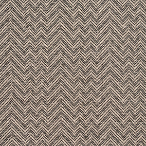 Essentials Crypton Black White Chevron Geometric Upholstery Fabric / Tuxedo
