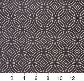 Essentials Chenille Black White Geometric Medallion Upholstery Fabric