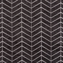 Load image into Gallery viewer, Essentials Chenille Black White Geometric Zig Zag Chevron Upholstery Fabric