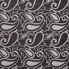 Load image into Gallery viewer, Essentials Chenille Black White Paisley Upholstery Fabric