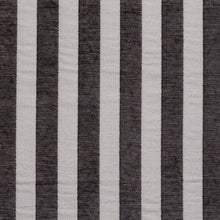 Load image into Gallery viewer, Essentials Chenille Black White Stripe Upholstery Fabric