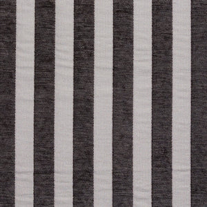 Essentials Chenille Black White Stripe Upholstery Fabric