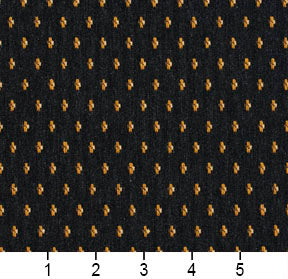 Essentials Black Yellow Brown Beige Upholstery Fabric / Espresso Dot