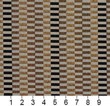 Load image into Gallery viewer, Essentials Black Yellow Gray Geometric Upholstery Fabric / Curry Shift