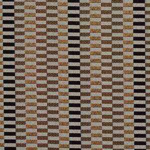 Essentials Black Yellow Gray Geometric Upholstery Fabric / Curry Shift