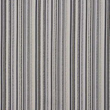 Load image into Gallery viewer, Essentials Outdoor Black Zinc Gray Stripe Upholstery Fabric