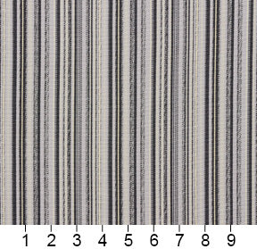 Essentials Outdoor Black Zinc Gray Stripe Upholstery Fabric