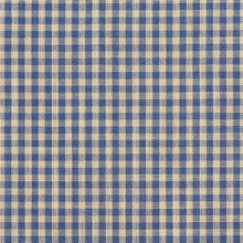 Load image into Gallery viewer, Essentials Blue Beige Checkered Upholstery Drapery Fabric / Wedgewood Gingham