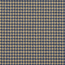 Load image into Gallery viewer, Essentials Blue Beige Upholstery Fabric / Patriot Houndstooth