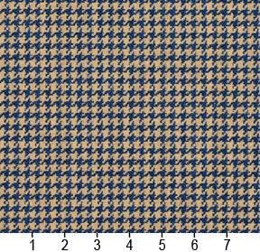 Essentials Blue Beige Upholstery Fabric / Patriot Houndstooth