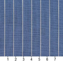 Load image into Gallery viewer, Essentials Blue Beige Stripe Upholstery Drapery Fabric / Wedgewood Pinstripe