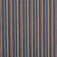 Load image into Gallery viewer, Essentials Blue Brown Stripe Rustic Upholstery Fabric