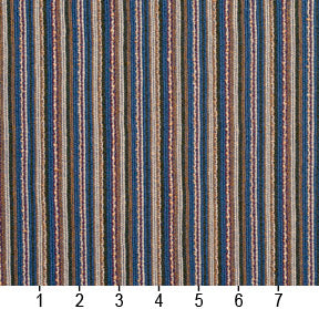 Essentials Blue Brown Stripe Rustic Upholstery Fabric