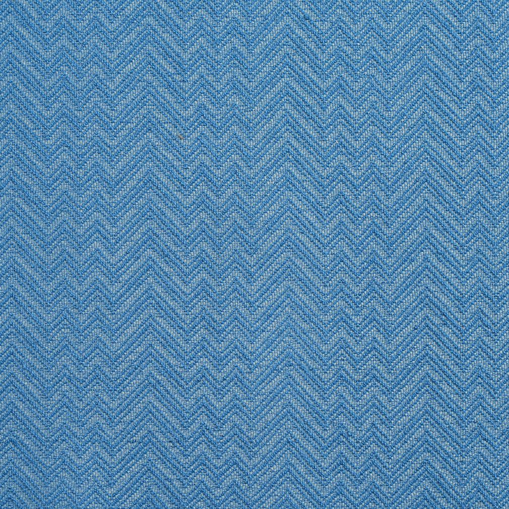 Essentials Crypton Blue Chevron Geometric Upholstery Fabric / Capri