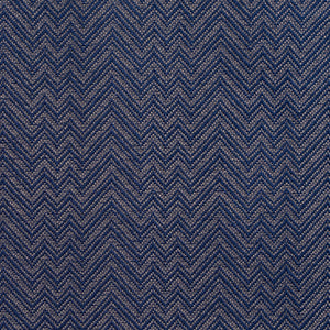 Essentials Crypton Blue Chevron Geometric Upholstery Fabric / Navy