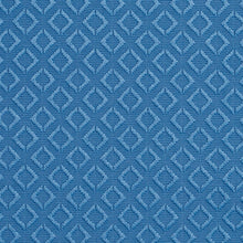 Load image into Gallery viewer, Essentials Blue Geometric Diamond Pattern Upholstery Fabric