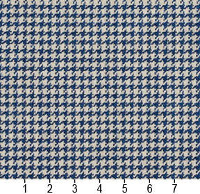 Essentials Blue Ivory Geometric Upholstery Fabric